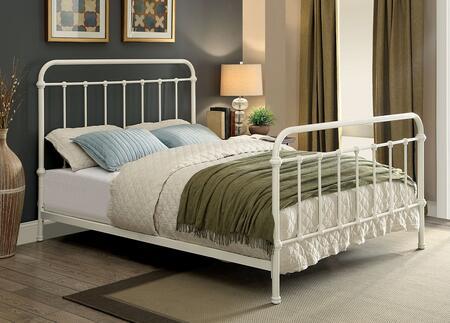 Furniture of America Iria CM7701WHQ Bed, 1