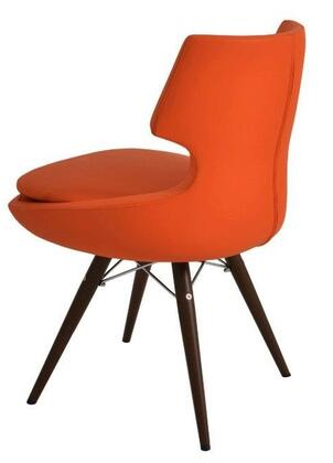 Orchard 100-CD-PTR-MW-CUZ39 EMD Chair with Orange Wool and Black EMD