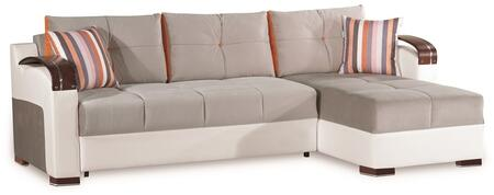 Casamode Divan Deluxe DIVANDELUXESECTIONALGRAY26379 Sectional Sofa Gray, Main Image