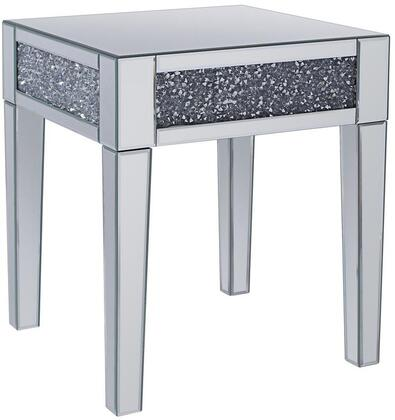 Acme Furniture Noralie 81417 End Table Silver, 81417 Side