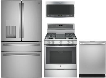 GE Profile  1139017 Kitchen Appliance Package Stainless Steel, Main Image