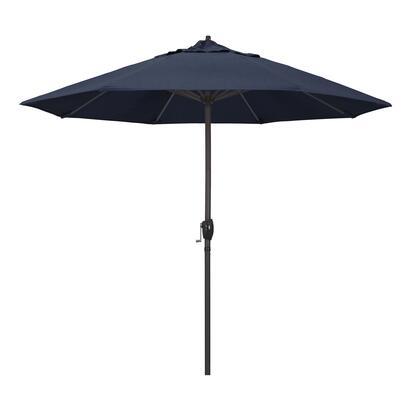 Casa Collection ATA908117-48080 9′ Patio Umbrella With Bronze Aluminum Pole Aluminum Ribs Auto Tilt Crank Lift With Sunbrella 1A Spectrum Indigo