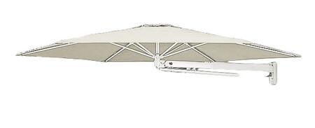 Shadowspec SU7 Series KITP7SQ30WFAWA Outdoor Umbrella White, Arctic White