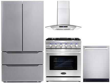 Cosmo  COS4PKG099 Kitchen Appliance Package Stainless Steel, COS 4PKG 099