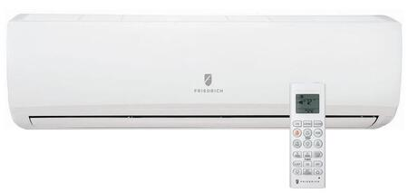 Friedrich MW18Y3J Mini Split Indoor Unit White, Main View of Indoor Ductless Split Unit with Remote Control