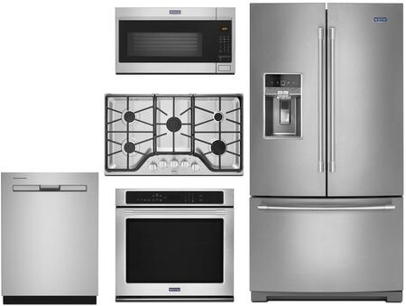 Maytag 1048695 5 piece Stainless Steel Kitchen Appliances Package