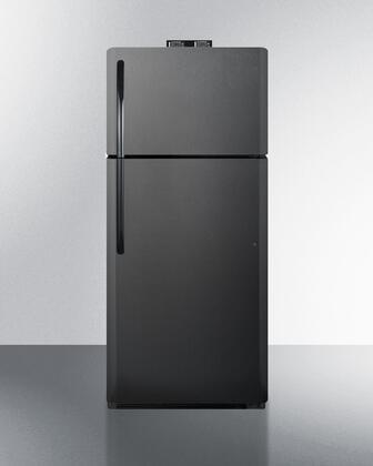 Summit  BKRF21B Top Freezer Refrigerator Black, BKRF21B Top Freezer Refrigerator