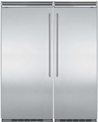 66″ Built-In Side-by-Side Refrigerator Column Set with MP30RA2RS 30″ Right Hinge Refrigerator and MP36FA2LS 36″ Left Hinge Column Freezer in