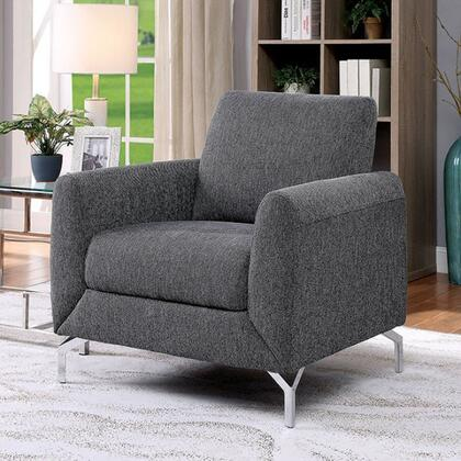 Furniture of America Lauritz CM6088GYCH Living Room Chair Gray, cm6088gy ch 1
