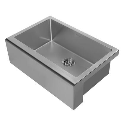 Whitehaus Noah Plus WHNPL3020GM Sink Gray, Main Image