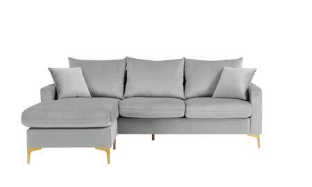 Chic Home Alexandra FSA9516AC Sectional Sofa Gray, Main Image