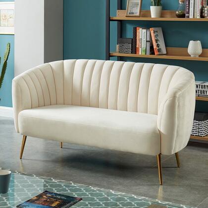 Furniture of America Dionne CM5100IVLV Loveseat White, CM5100IV-LV Main