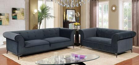 Furniture of America Gresford CM6952SF2SET Living Room Set Gray, Living Room Set