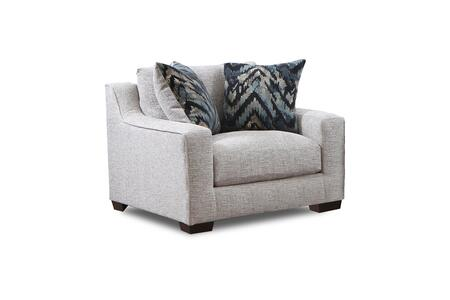 Minnesota Collection 181401-2005-C-HP 45″ Chair and a Half with Decorative Pillows  Track Arms  Block Feet  Homespun Platinum Polyester Upholstery in