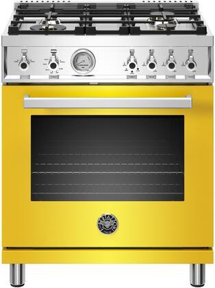 Bertazzoni Professional PROF304GASGIT Freestanding Gas Range Yellow, PROF304GASGIT  30 inch All Gas Range