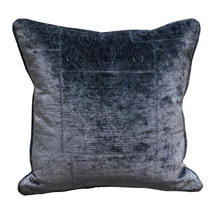 Plutus Brands Bleu Velour PBRA23331818DP Pillow, PBRA2333