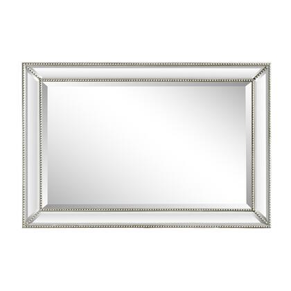 802032-M 24″ Rectangle Silver Beaded Frame