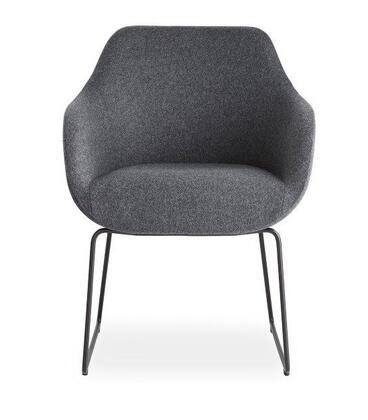Lamy Collection 100-BT-97-SL-C-CUZ30 Chair with Sled Base-Dark