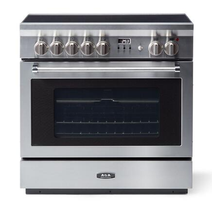 AMPRO36IN-SS 36″ Professional Series Stainless Steel Induction Range with 5 Elements  13 Temperature Settings  4.9 cu. ft. Oven Capacity  3