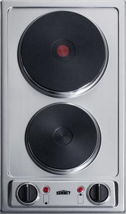 Summit  CSD2B230 Electric Cooktop Stainless Steel, CSD2B230 Front View
