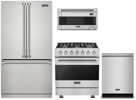 Viking 3 Series 1310812 Kitchen Appliance Package Stainless Steel, Main image