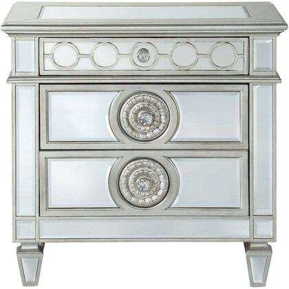 Acme Furniture Varian 26153 Nightstand Silver, 26153 front