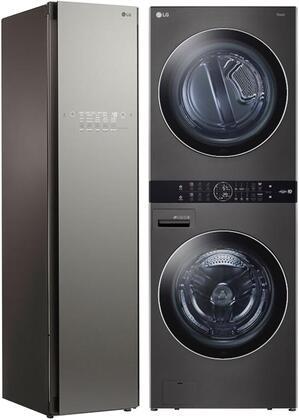 LG  1329632 Washer & Dryer Set Black, Main image