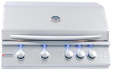 RCS Premier RJC32AL Natural Gas Grill Stainless Steel, Main Image