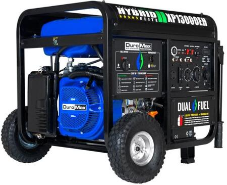 XP13000EH Portable Hybrid Dual Fuel Gas Propane Generator with 13000 Watts  20 HP Engine  Low Oil Shutoff and Idle