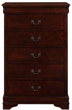 Global Furniture USA Marley MARLEYMERLOTCH Chest of Drawer Brown, Main Image