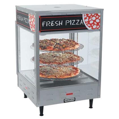 Nemco  64522 Commercial Countertop Food Warmer , nemco 6452 2 double door rotating 4 tier pizza merchandiser with 18 racks 120v