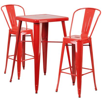 Flash Furniture CH31330B CH31330B230GBREDGG Outdoor Patio Set Red, CH31330B230GBREDGG