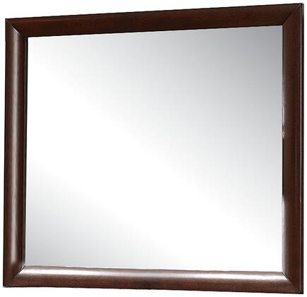 Acme Furniture Ireland 21454 Mirror Brown, Angled View