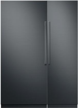 Dacor Contemporary 786323 Column Refrigerator & Freezer Set Graphite Stainless Steel, 1