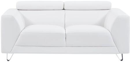 Global Furniture USA U8210 U8210PLUTOWHITELOVESEAT Loveseat White, Main Image