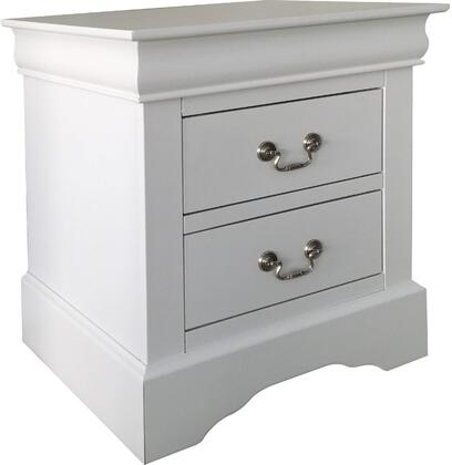 Acme Furniture Louis Philippe III 24503 Nightstand White, Angled View