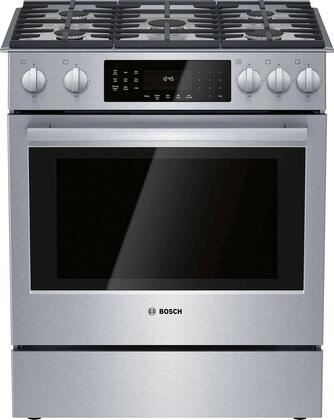 HGIP056UC 30″ Slide-in Gas Range with 5 Burners  4.8 cu. ft. Capacity  Warming Drawer and Full-Extension Telescopic Rack  Convection  Self-Cleaning