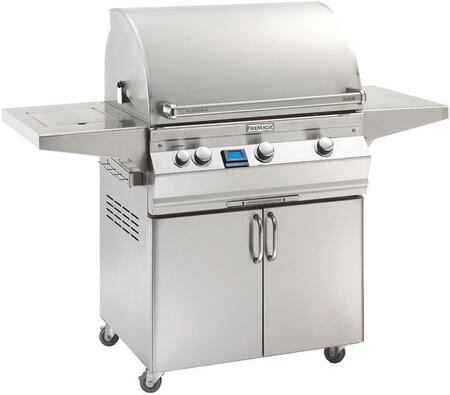 Fire Magic Aurora A660S5E1N62 Natural Gas Grill Stainless Steel, Main Image with Side Burner