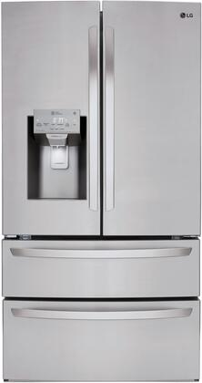 LG  LMXS28626S French Door Refrigerator Stainless Steel, Main Image