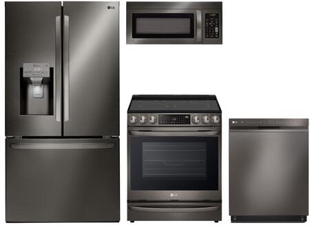 LG 1100991 Kitchen Appliance Package & Bundle Black Stainless Steel, main image