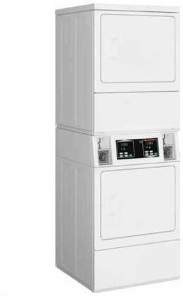 SSENYAGS173TW01 Electric 240V Stacked Dryer on Dryer with 14 cu. ft. Total Capacity  in White (Coin Box Sold