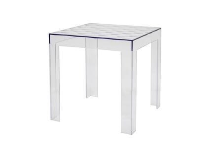 Wholesale Interiors Parq RT637 End Table Transparent, 1
