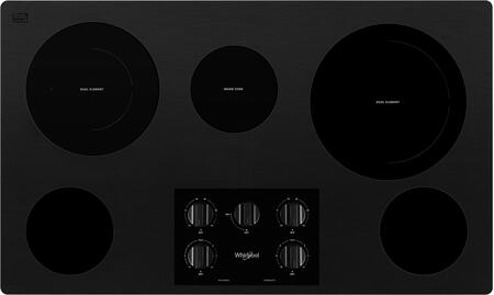 Whirlpool  WCE77US6HB Electric Cooktop Black, Main Image
