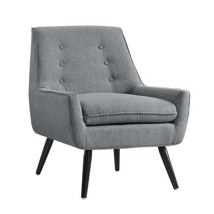 Linon Trelis 368360GRY01U Accent Chair, 368360GRY01U Trelis Chair Gray Flannel