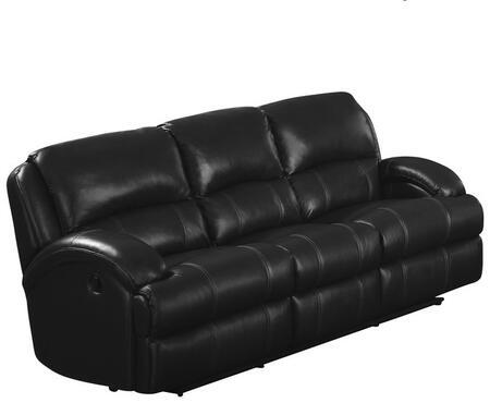Myco Furniture Capri CA820SBK Motion Sofa Black, 1