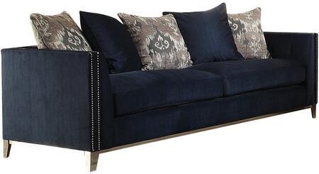 Acme Furniture Phaedra 52830 Stationary Sofa Blue, Main Image