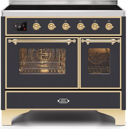 Ilve Majestic II UMDI10NS3MGG Freestanding Electric Range Graphite, UMDI10NS3MGG-Front-CD-A