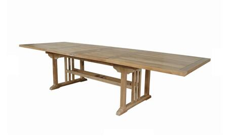 Anderson Sahara TBX126RD Outdoor Patio Table Brown, TBX-126RD Main Image