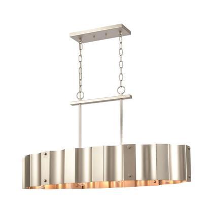 89058/4 Clausten 4-Light Island Light in Matte Nickel with Satin Nickel Metal