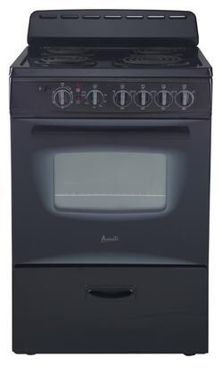 Avanti ER24P1BG Freestanding Electric Range Black, 1